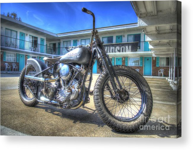 Race Of Gentleman Acrylic Print featuring the photograph Harley Hotel by Jason Barr
