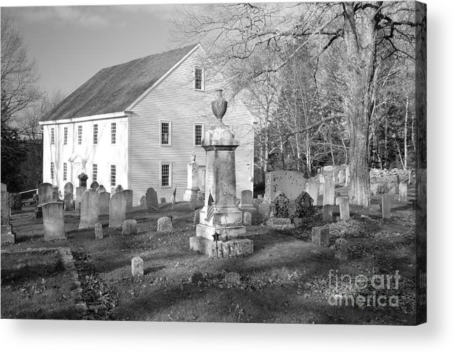 Maine Acrylic Print featuring the photograph Harrington Meetinghouse -bristol Me Usa by Erin Paul Donovan
