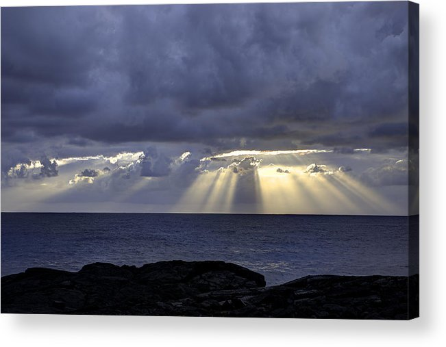 Sunrise Acrylic Print featuring the photograph Hawaiian Sunrise by Mike Herdering