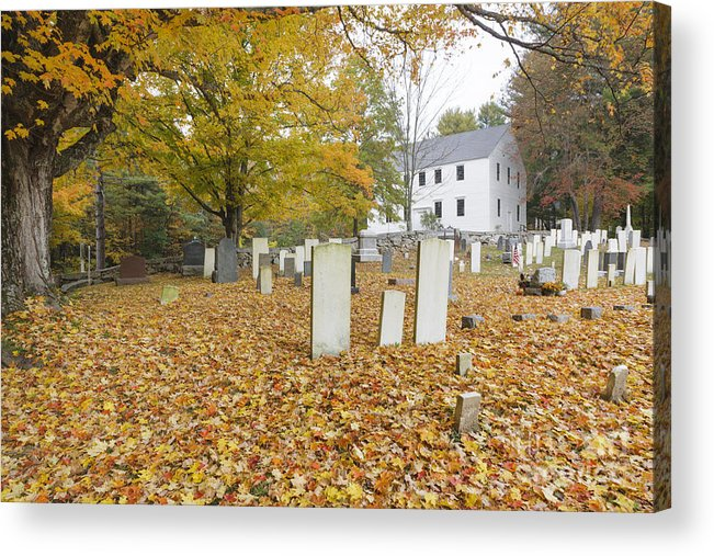 Colonial Meeting House Acrylic Print featuring the photograph Hawke Meetinghouse - Danville New Hampshire by Erin Paul Donovan
