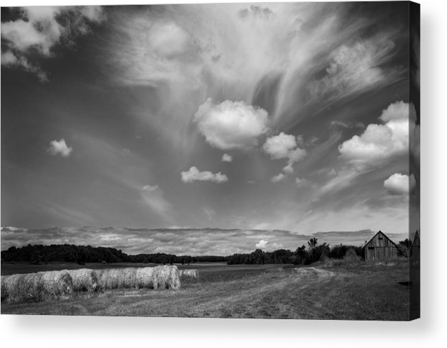 Door County Acrylic Print featuring the photograph Hay Field And Barn Clarks Lake Road by Stephen Mack