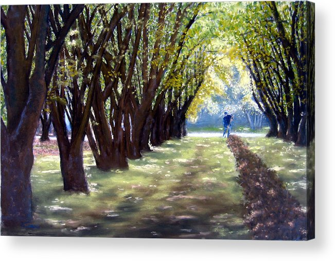 Orchard Acrylic Print featuring the painting Hazel Green by Carl Capps