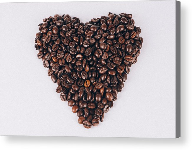 Espresso Acrylic Print featuring the photograph Heart Of Coffee Beans by Jose Luis Agudo