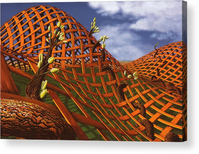 Architecture Acrylic Print featuring the painting Hedera Ferrugo by Patricia Van Lubeck