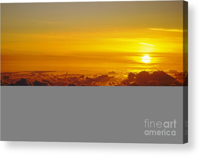 Hawaii Acrylic Print featuring the photograph Heleakala Sunrise by Stan and Anne Foster