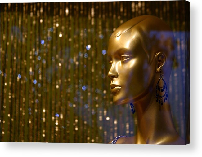 Jez C Self Acrylic Print featuring the photograph Hey Gold Looking by Jez C Self
