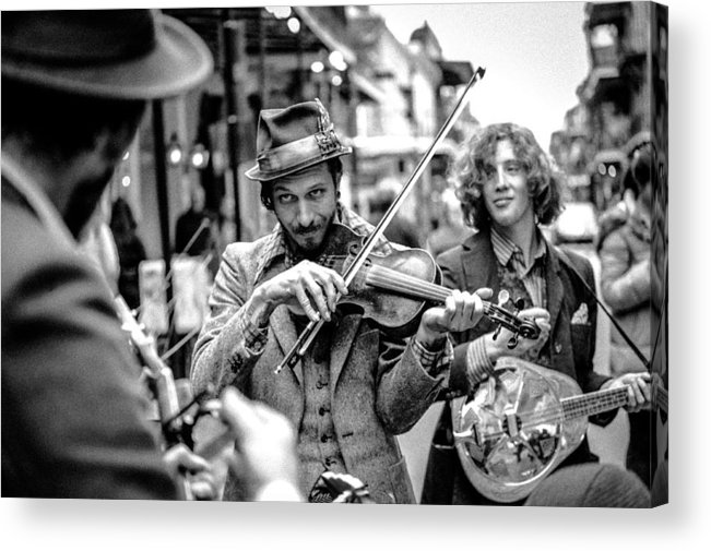 New Orleans Acrylic Print featuring the photograph Hobo Ragtime Band by Chuck Jines