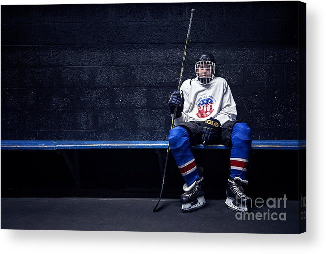 Kremsdorf Acrylic Print featuring the photograph Hockey Strong by Evelina Kremsdorf