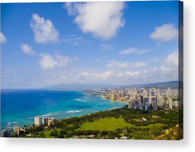 Landscape Acrylic Print featuring the photograph Honolulu by Wes Shinn