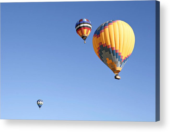 Balloons Acrylic Print featuring the photograph Hot Air Balloon Ride A Special Adventure by Christine Till