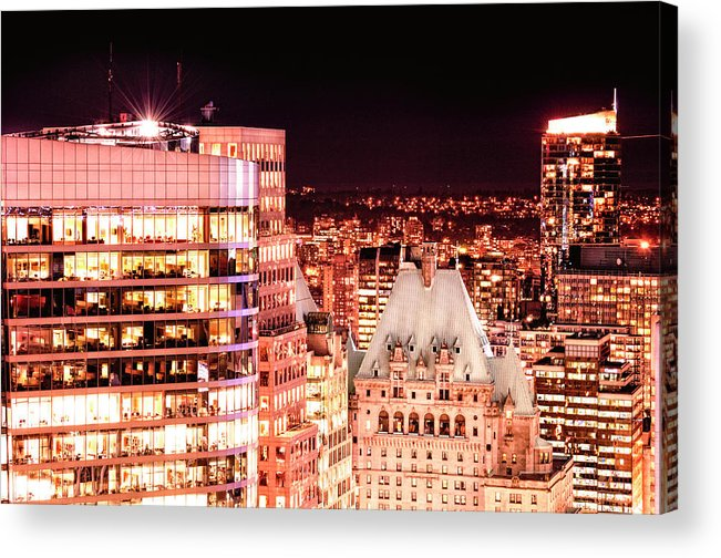 Amyn Nasser Acrylic Print featuring the photograph Hotel Vancouver And Sheraton Wall Center by Amyn Nasser