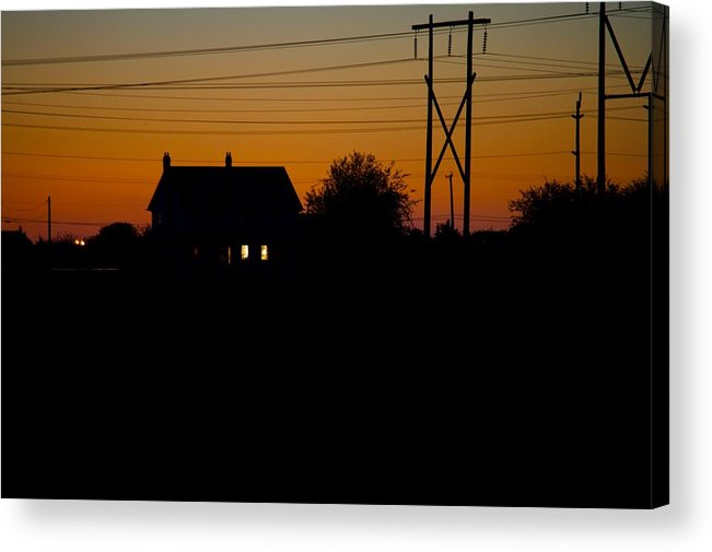 Sunset Acrylic Print featuring the photograph House At Sunset by Paul Kloschinsky