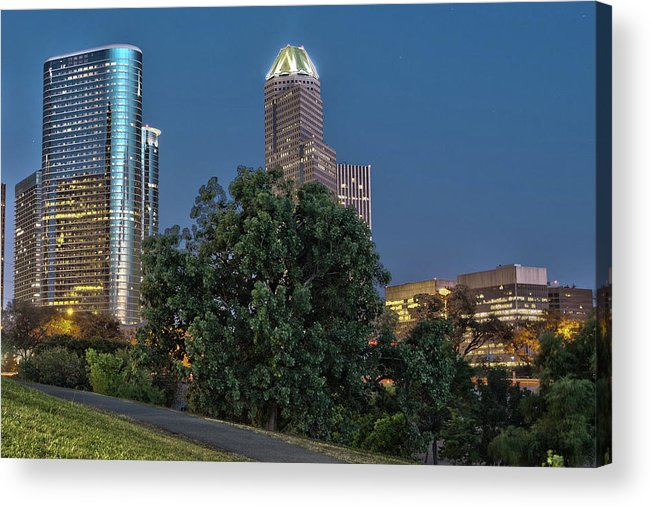 Cityscapes Acrylic Print featuring the photograph Houston Cityscape2 by James Woody