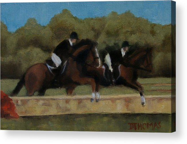 Horse Acrylic Print featuring the painting Hunt Scene by Donna Thomas