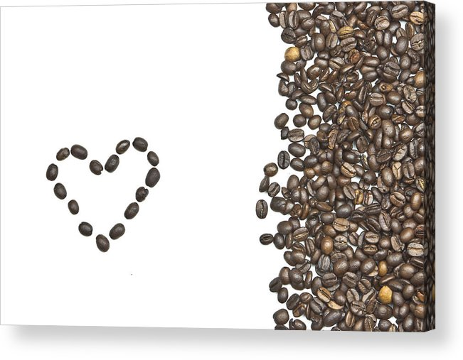 Coffee Beans Acrylic Print featuring the photograph I Love Coffee by Joana Kruse
