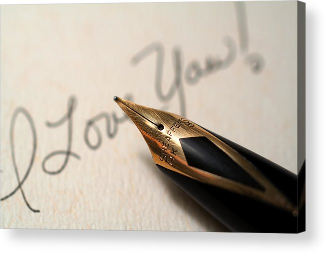 Love Acrylic Print featuring the photograph I Love You by June Marie Sobrito