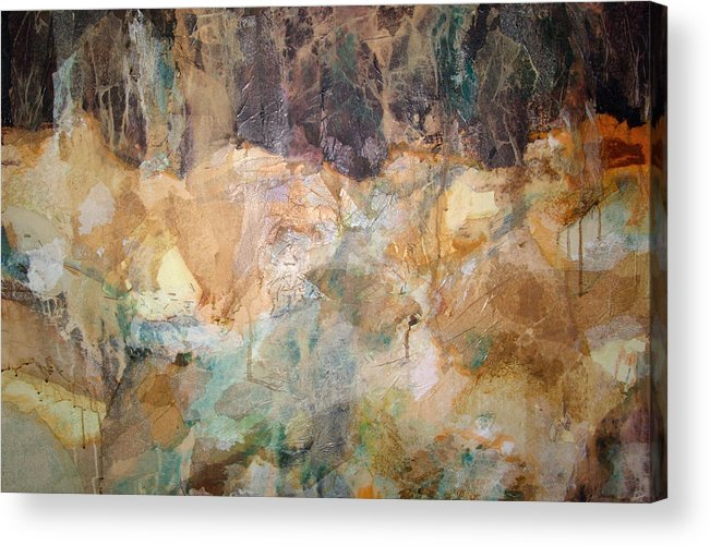 Abstract Landscape Acrylic Print featuring the painting I Remember by Carol Everhart Roper
