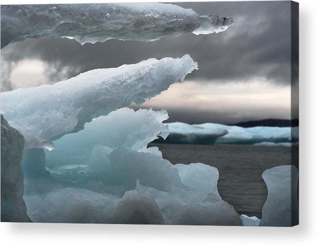 Ice Acrylic Print featuring the photograph Ice Drama by Elisabeth Van Eyken
