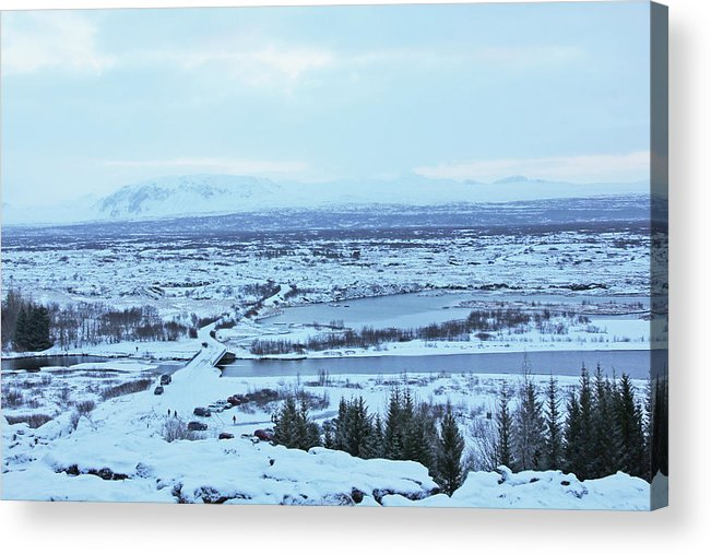 Iceland Mountains Lakes Roads Bridges Iceland 2 2112018 0945 Acrylic Print featuring the photograph Iceland Mountains Lakes Roads Bridges Iceland 2 2112018 0945 by David Frederick