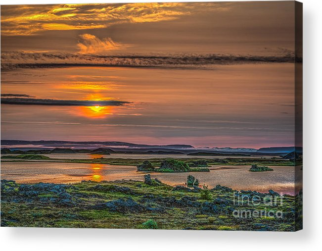 Iceland Acrylic Print featuring the photograph Icelandic Sunset by Izet Kapetanovic