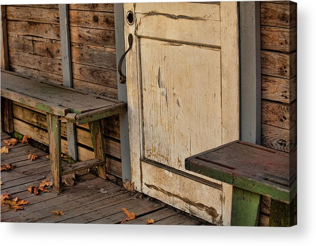 Empty House Acrylic Print featuring the photograph If This Porch Could Talk by Bonnie Bruno