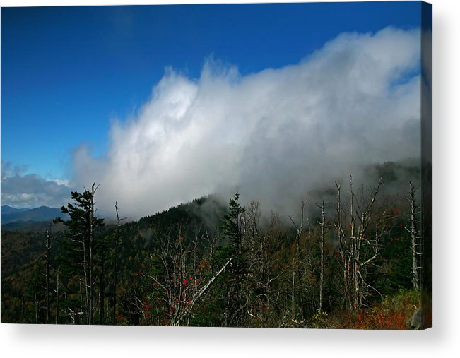 Smokey Mountains Acrylic Print featuring the photograph In The Clouds by James Jones