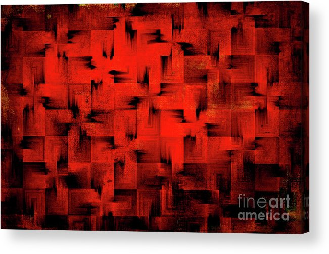 Abstract Acrylic Print featuring the digital art Inferno by Silvia Ganora