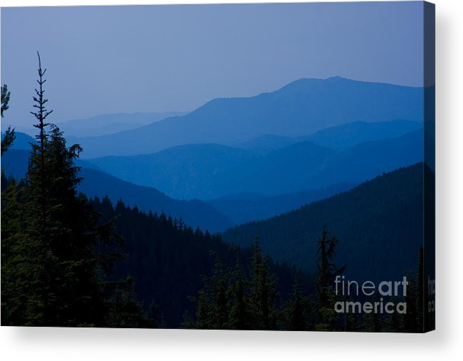 Mountain Acrylic Print featuring the photograph Infinity by Idaho Scenic Images Linda Lantzy