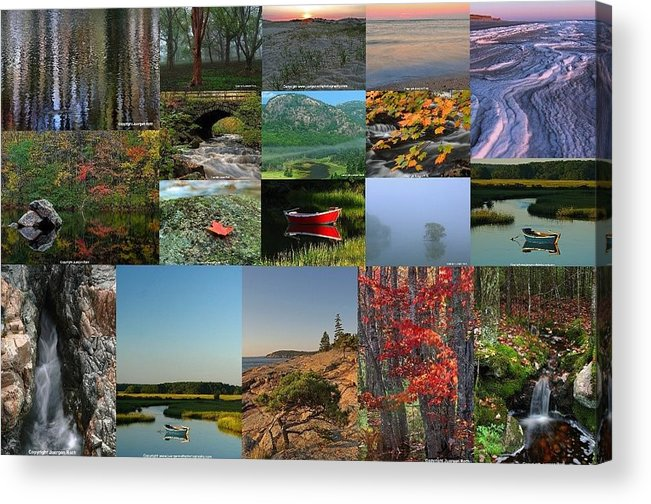 Maine Acrylic Print featuring the photograph Intimate New England Landscape Photography by Juergen Roth