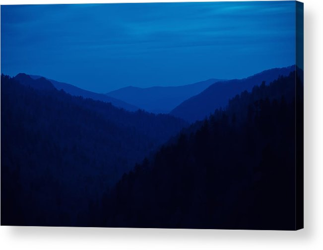 Great Smoky Mountains Acrylic Print featuring the photograph Into The Blue by Rich Leighton