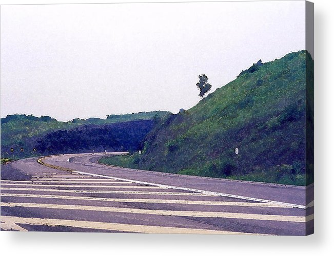 Nature Acrylic Print featuring the photograph Into The Rockcut 2 Wc by Lyle Crump