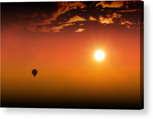 Sunset Acrylic Print featuring the photograph Into The Sunset by Barbara White