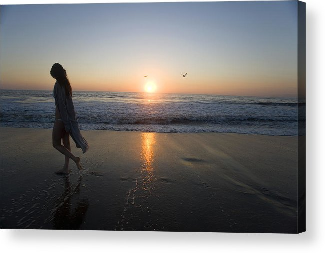 Beach Acrylic Print featuring the photograph Introspection 2 by Brad Rickerby