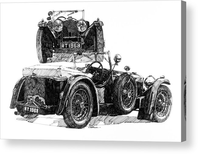 Transportation Acrylic Print featuring the painting Invicta by Ron Patterson