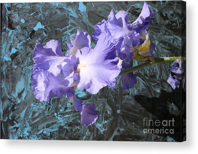 Flowers Acrylic Print featuring the photograph Iris Azulez by Juan Carlos Gonzalez