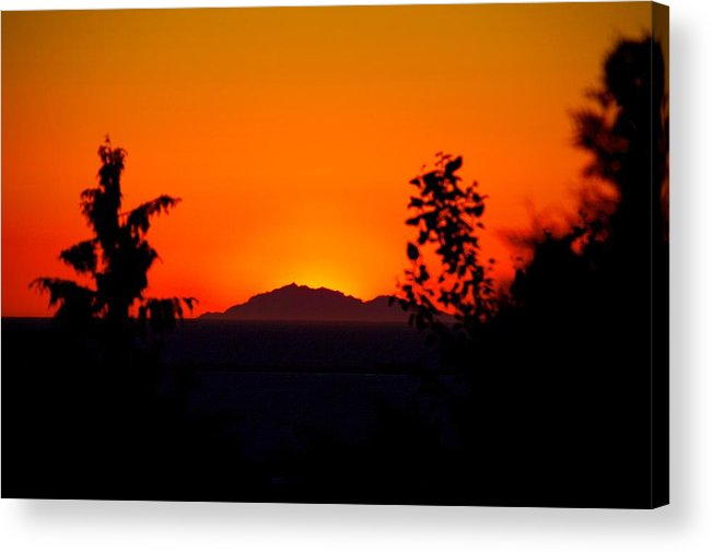 Island Acrylic Print featuring the photograph Island Sunset by Paul Kloschinsky