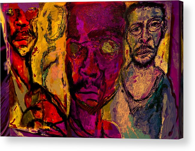Human Composition Acrylic Print featuring the painting Iso2008 by Noredin Morgan