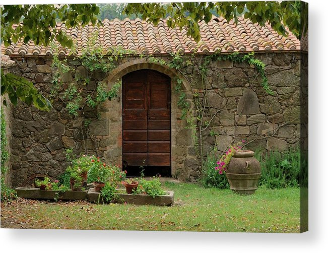 Italy Acrylic Print featuring the photograph Italy Door Twenty Four by Jim Benest