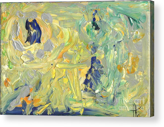 Abstract Acrylic Print featuring the painting It's Time by Mary Cassidy