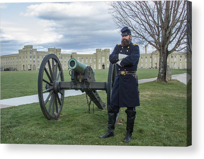 Jackson Acrylic Print featuring the photograph Jackson At Vmi by Judy Smith