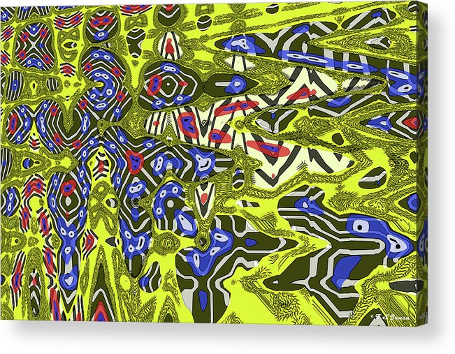 Janca Abstract # 6731eac1 Acrylic Print featuring the digital art Janca Abstract # 6731eac1 by Tom Janca