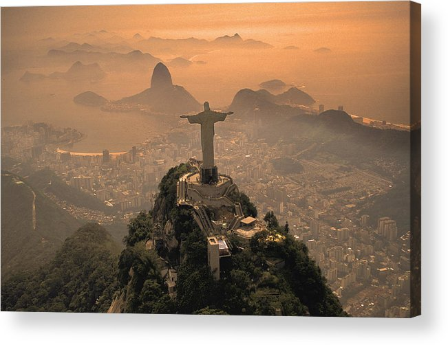 Jesus Acrylic Print featuring the photograph Jesus In Rio by Christian Heeb