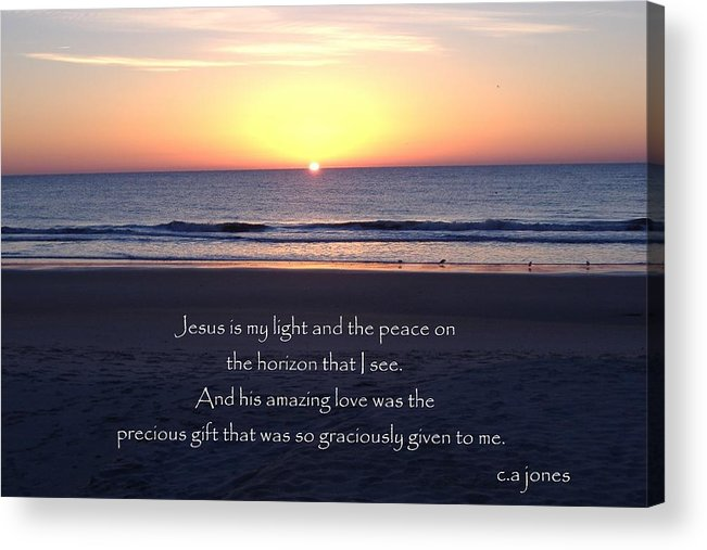 Christian Acrylic Print featuring the photograph Jesus My Light by Chris Jones