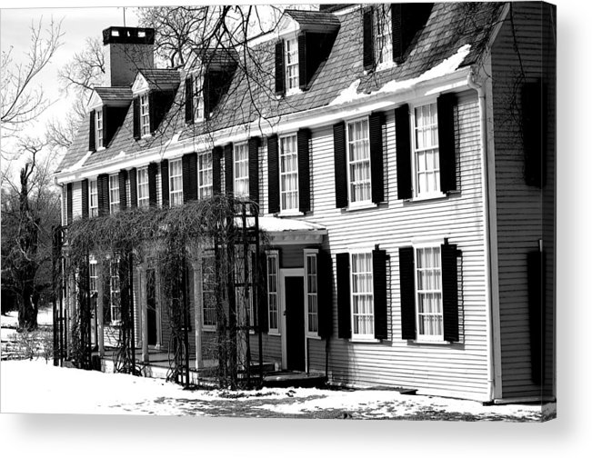John Quincy Adams Acrylic Print featuring the photograph John Quincy Adams House Facade by Heather Weikel