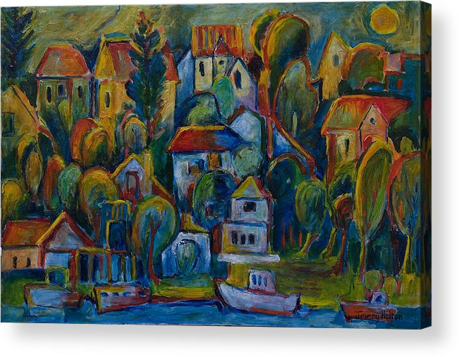 Oil Acrylic Print featuring the painting Joie De Vivre by Jeremy Holton