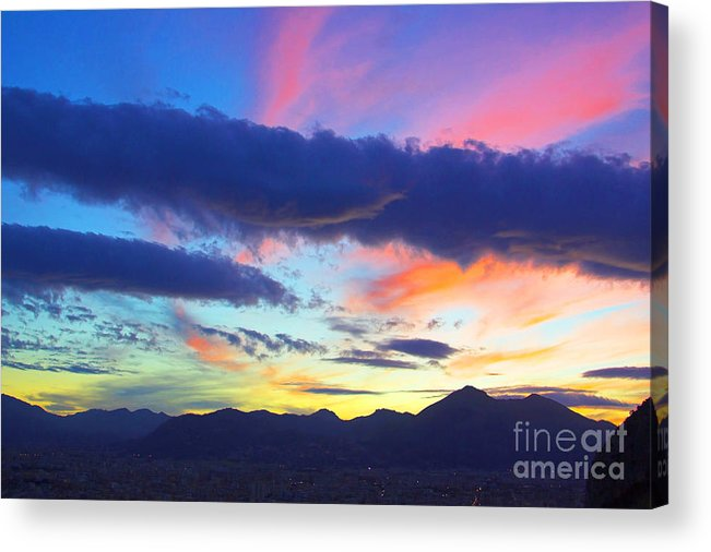 Sky Acrylic Print featuring the mixed media Jolliness by Carlo Greco