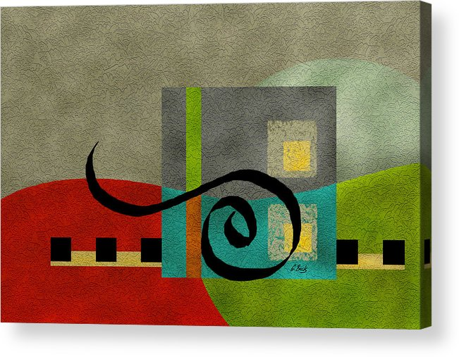Contemporary Acrylic Print featuring the painting Joy by Gordon Beck