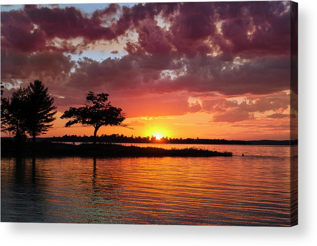 June Acrylic Print featuring the photograph June Sunset At Detroit Point by Ron Wiltse