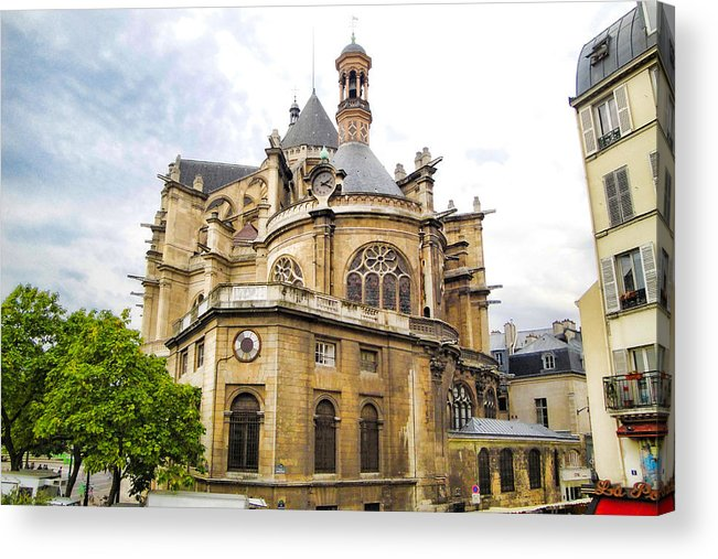 Paris Acrylic Print featuring the photograph Just Another Paris Cathedral by Robert Meyers-Lussier