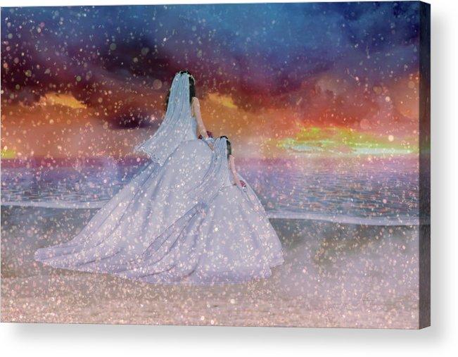 Wedding Acrylic Print featuring the digital art Just Like Mom II by Betsy Knapp